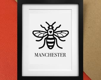 Manchester Worker Bee Charity Print