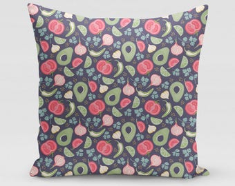 Guacamole Patterned Square Pillow   Home Decor   Studio Carrie   Gift