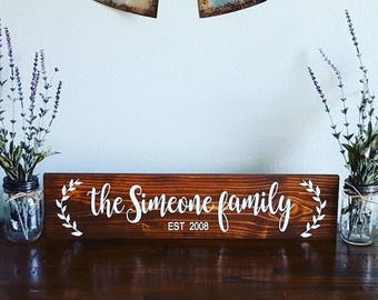 """Personalized 24"""" Family Established Last Name 