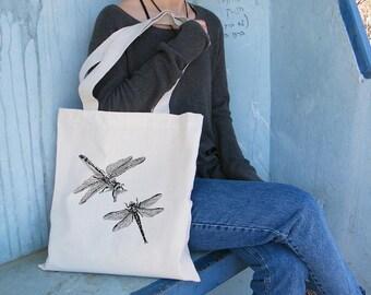 Shoulder Tote Bag, Dragonfly Tote Bag, Cotton Tote Bag, Tote Bag Canvas, Tote Bag For Woman, Bags And Purses, Dragonflies Bag, Gift For Her