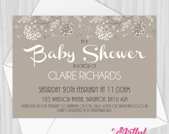 Printable Gender Neutral Baby Shower Invitation | Personalized