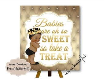 PRINTABLE Royal Baby Shower Candy Buffet Sign Prints 16X20 or 8X10,Royal Baby Shower Decor, Babies are Sweet, Take a Treat, Royal Collection