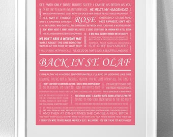"ROSE NYLUND, ""Back In St. Olaf"" (Golden Girls) Individual Character Print"