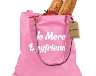 No More Boyfriends Shopping Tote Bag