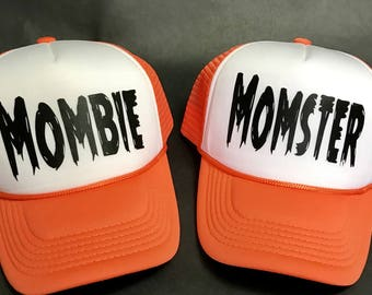 Mombie (Zombie) and Momster (Monster) Trucker Hat! **Free shipping on this item!!!!!**