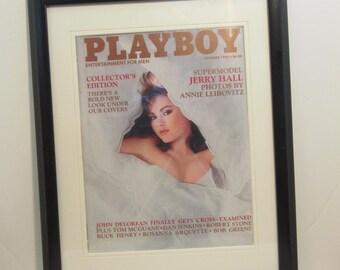Vintage Playboy Magazine Cover Matted Framed : October 1985 - Sherry Arnett