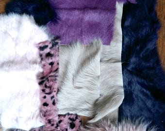 Various scraps of furs for patchwork