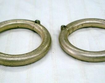 Vintage bangle Antique bangle tribal old silver Bracelet bangle set pair