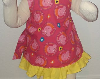 Peppa Pig Girl Outfit, Cake Smash Outfit, Girl Birthday outfit, Peppa pig girl Birthday outfit