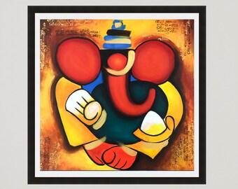 Ganesha Print, Indian decor, Spiritual decor, Religious art gift, Hindu God, Art gifts, Indian art print, Ganesha art, Hindu wall art, India
