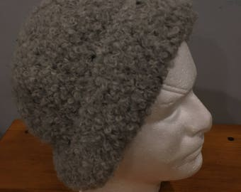 Alpaca Hat Boucle - Gray
