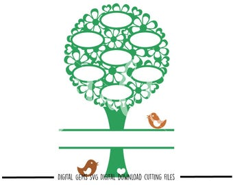 Family Tree Blank Tree svg / dxf / eps / png files. Download. Compatible with Cricut and Silhouette machines. Small commercial use ok