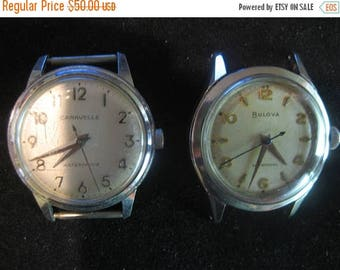 ON SALE 2 Watches Classic Men's 'Proof' 1964 Vintage Caravelle by Bulova  Vintage Bulova Men's Self winding Watch Automatic