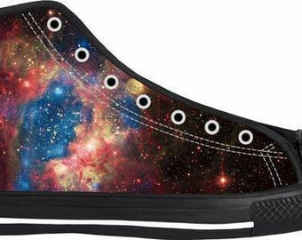 Galaxy, Space Print High Top Shoes