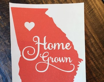 Georgia Home Grown Decal