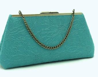 Turquoise Bridesmaid Purse Clutch Handbag