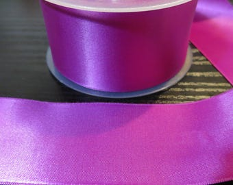 Purple 5 cm satin ribbon