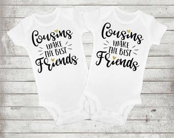 cousins make the best friends - big cousin shirt - gift for new cousin - girl clothes - girl shirts - custom shirts - baby girl clothes