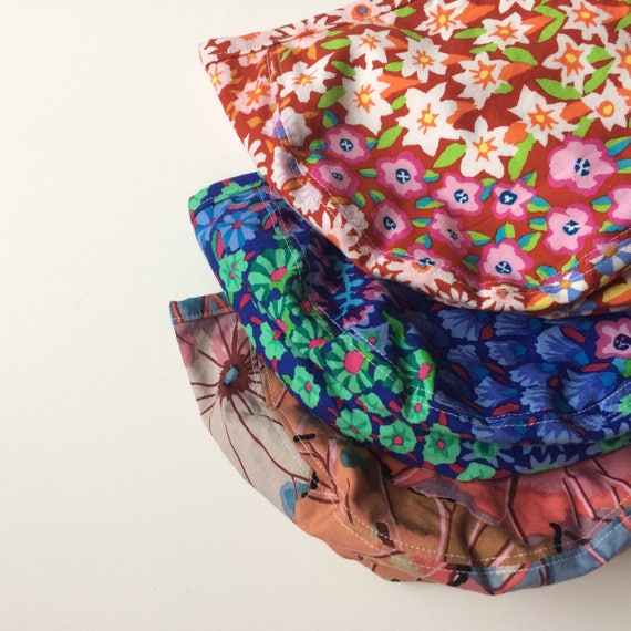 Featured Fall Floral Cotton Bonnets