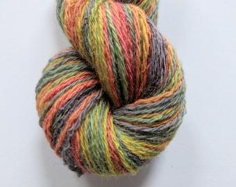 "Handspun Wool Striping Yarn: ""Unicorn Mane #2"""