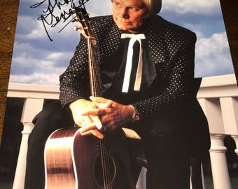 "George Jones autographed signed 8"" X 10"" Photo Super Rare"