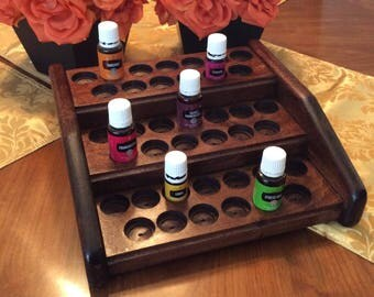 Essential oils rack / oil holder / 39 bottle organizer, Storage display stand for Young Living & doTerra 5ml + 15ml, 4 color choices!