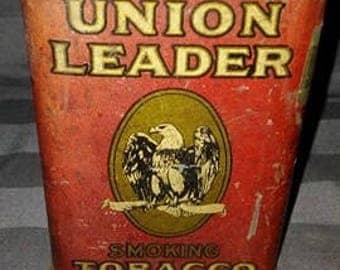 Vintage Union Leader Tobacco Tin