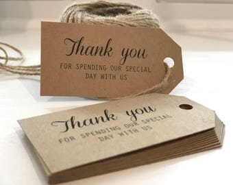Printed Thank you for celebrating with us - Wedding Favor Tags - Custom Tags - Wedding Labels - Wedding Favor Ideas - Personalized Tags