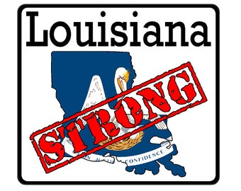 Louisiana State (K19) Strong Flag Vinyl Decal Sticker Car/Truck Laptop/Netbook Window