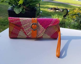 Vintage Straw Clutch Purse