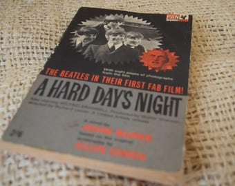 The Beatles. A Hard Day's Night. First Edition Original Vintage Book of the Film. Pan Books. 1964
