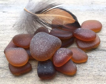Brown Sea Glass Cabochons