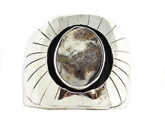 White Buffalo Men's Ring