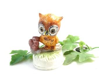 Vintage Owl Figurine -  Ceramic Owl Figurine -  Collectible Owl -  Owl Decoration -  Decorative Owl -  Owl Lover Gift