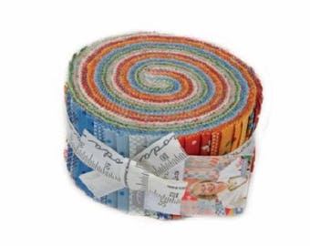 "Moda Fabric ~ Jelly Roll ~ Spring A Ling ~ (40) 2.5"" Cotton Quilting Strips 21710JR"