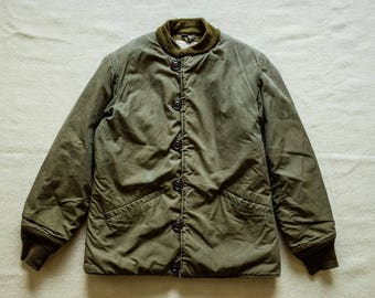 WW2 Wool Lined M43 winter Jacket M-1943 US Army USN Deck Deadstock Olive Drab Buzz Rickson Real Mccoy rrl Nigel Cabourn engineered garments