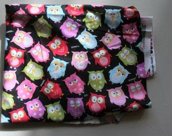 Owls on a black background B34-OL!-PO5 By Broth Sister Design