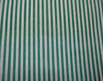 1 coupon of striped green and white 20x25cm 100% cotton