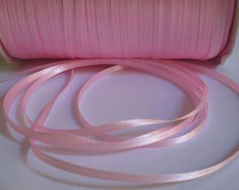 5 m pink 3mm satin ribbon