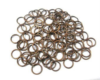 50 rings 7mm color copper