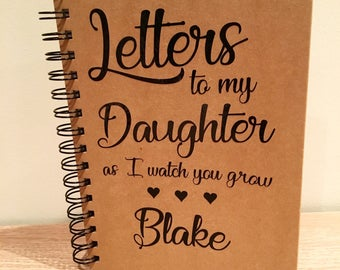 Letters to my daughter pad- letters to my son pad- personalised pad- kraft pad