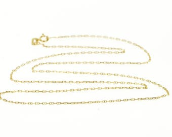 """14k 0.8mm Rolling Cable Link Chain Necklace Gold 18"""""""