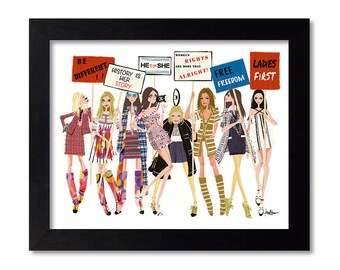 Chanel - Fashion Illustration Print Fashion Print Fashion Art Fashion Wall Art Fashion Poster Fashion Sketch Illustration Art Print