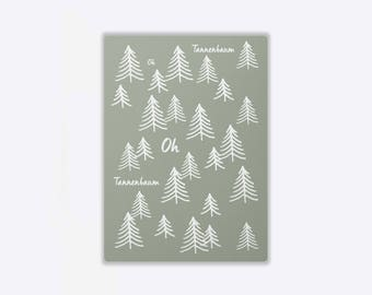 Postcard 'CHRISTMAS FOREST'