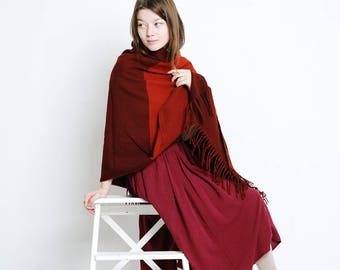 plaid blanket scarf red plaid scarf wool red blanket scarves boho red scarf wine red scarf bright red shawl red soft scarf winter