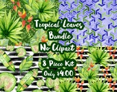 Tropical Leaves Mystery Bundle 8 Sheets Planner Sticker-Erin Condren Sticker-Happy Planner Stickers-Floral Stickers