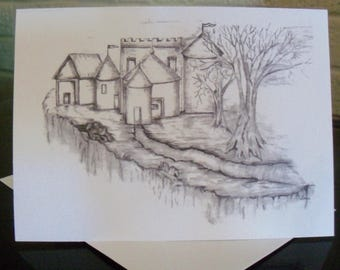 Castle Greeting Cards / Greeting Cards /  Castle Note Cards / Blank Cards / Art  / Just Because Cards