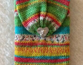 Case, Hand Cranked Wool case , make up bag, Hand Made make up bag, wallet, purse,