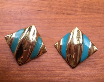 Vintage Golden Earrings and blue years ' 80