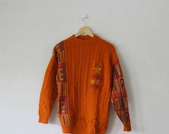 MEGA SALE 40% OFF Rare !! Vintage Enrico Coveri Italian Fashion Designer Luxury Wool Sweater Size M
